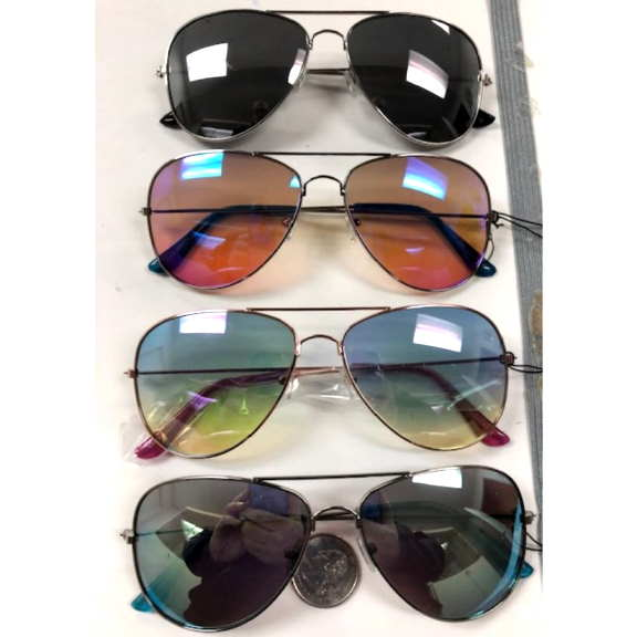AVIATOR STYLE FRAMES WITH OCEAN REVO LENS AND MIRROR LENSES