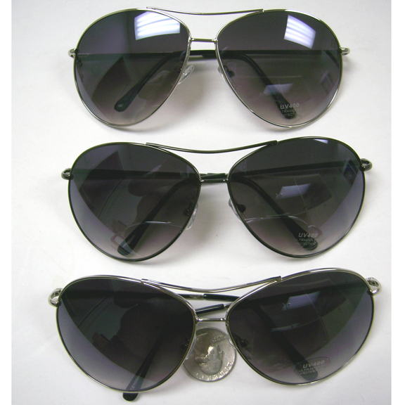AVIATOR SPRING TEMPLE SUNGLASSES