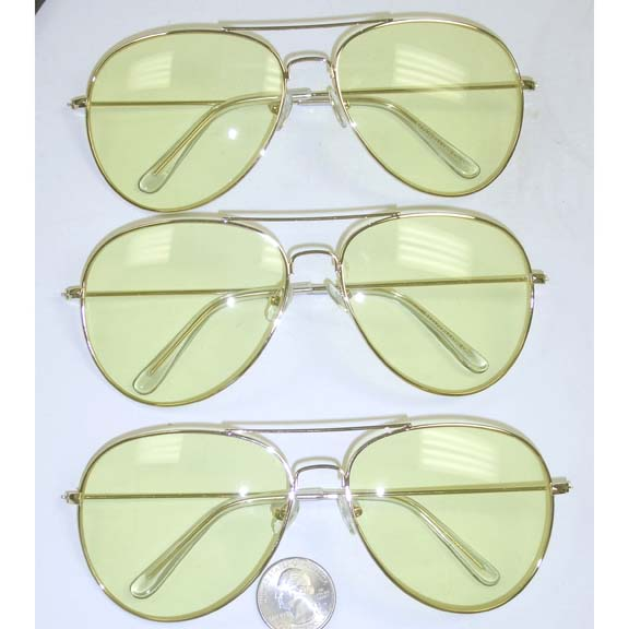 AVIATORS LIGHT YELLOW LENS, GOLD FRAMES