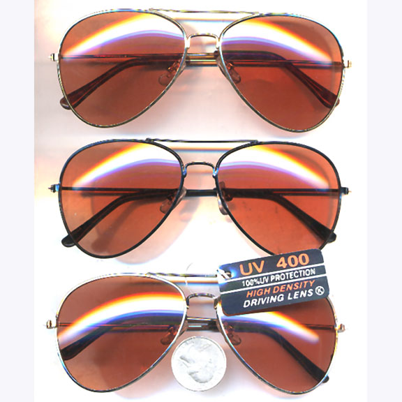 AVIATOR SUNGLASSES WITH DRIVING LENS