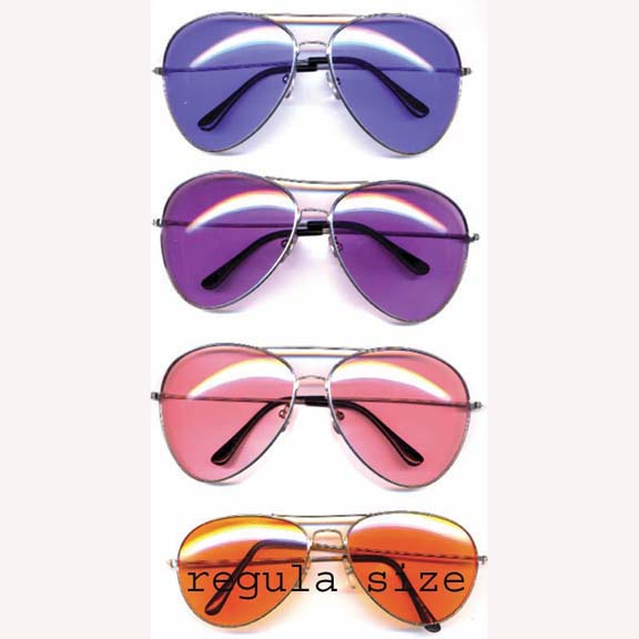 AVIATORS  XL SIZE WITH  COLOR LENSES
