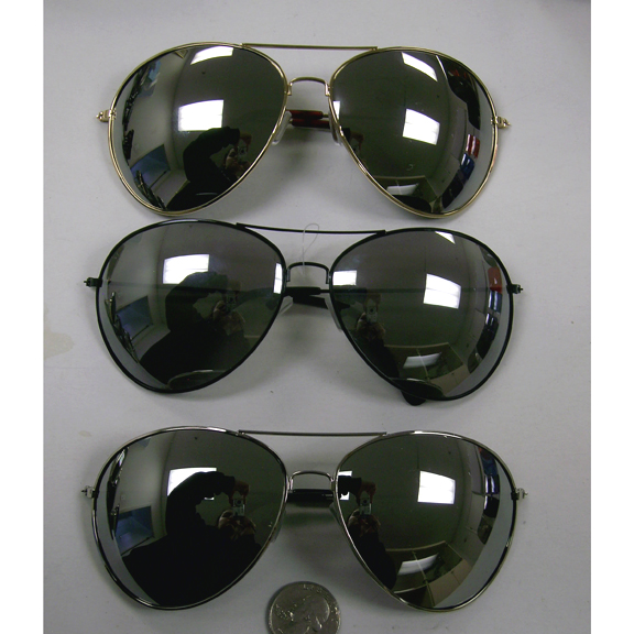 AVIATOR XL SIZE MIRROR SUNGLASSES