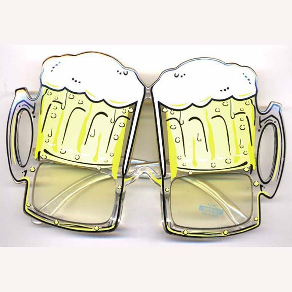 BEER MUG GLASSES YELLOW color