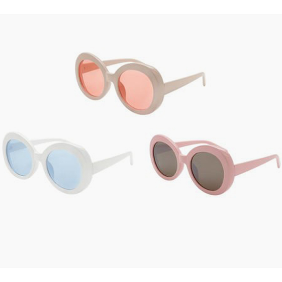 ROUNDR JACKIE O STYLE SUNGLASSES 3 COLOR FRAMES WITH COLOR LENS