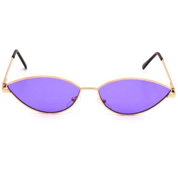 COLOR LENS, COOL SMALL METAL FRAME SUNGLASSES SPRING TEMPLE