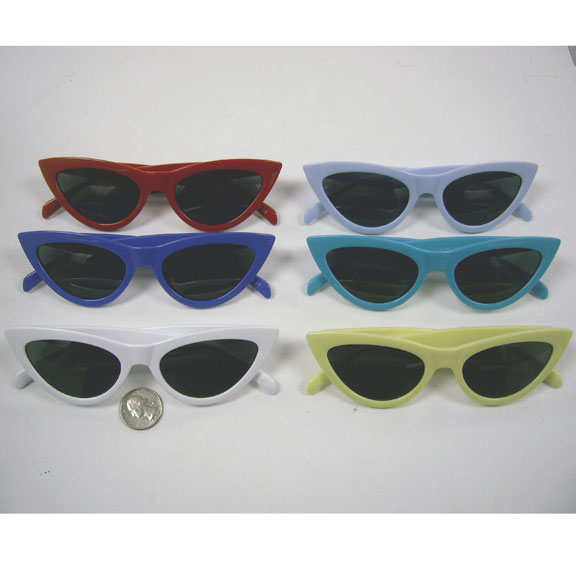 CAT SHAPE RETRO  CLASSIC LOOKING SUNGLASSES IN ASSORTED COLORS