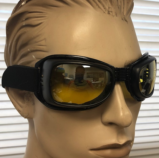 GOGGLES NIGHT DRIVING YELLOW LENSES,