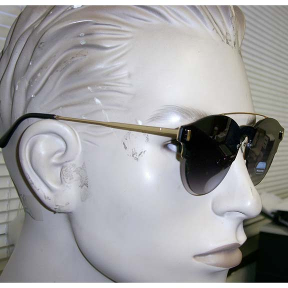 FRAMELESS FLAT ROUND SHAPE SUNGLASSES, ASST LENSES, VERY COOL