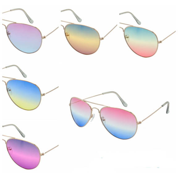 AVIATOR SUNGLASES WITH OCEAN LENSES