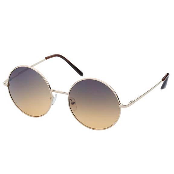 LENNON STYLE XL IN ASSORTED DARK COLORS,  GOLD/SILVER FRAMES
