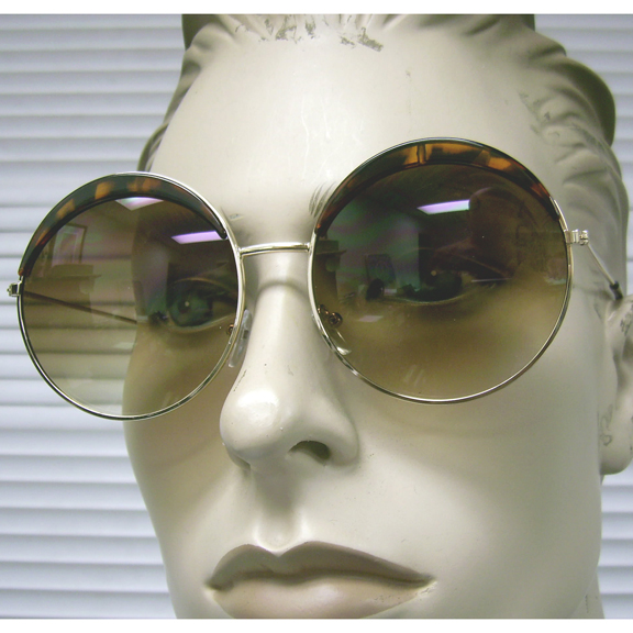 LARGE ROUND LENS WITH 1/8 MOON SHAPE ON TOP, ASSORTED SUNGLASSES
