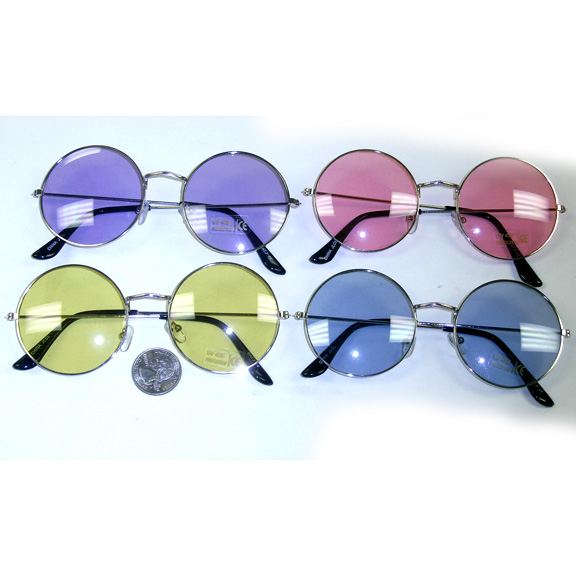 LENNON STYLE 4 COLOR SUNGLASSES, A BIT LARGER THAN NORMAL