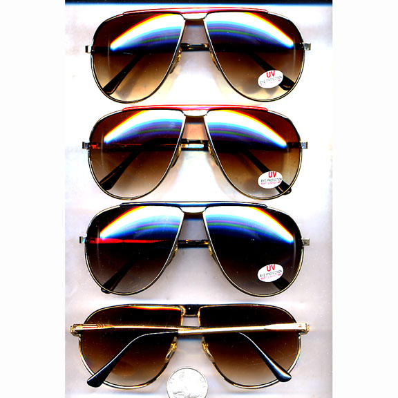 AVIATOR RETRO COLORED BAR SUNGLASSES