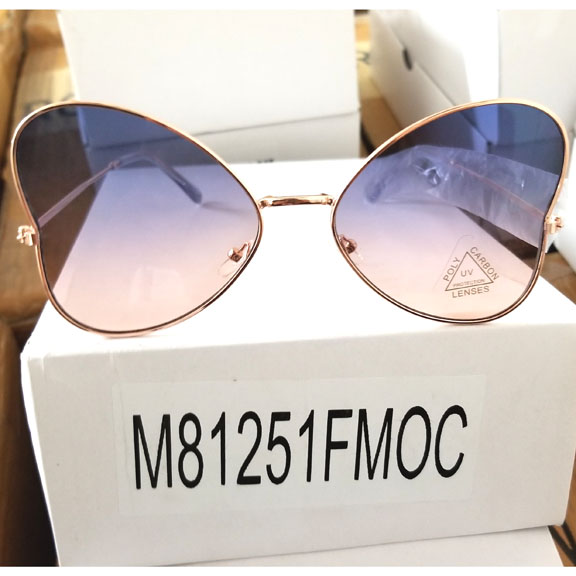 OCEAN LENS COOL SHAPE WINGS LOOK SUNGLASSES