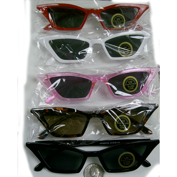 CAT RETRO LOOKING SMALL FRAMES SUNGLASSES