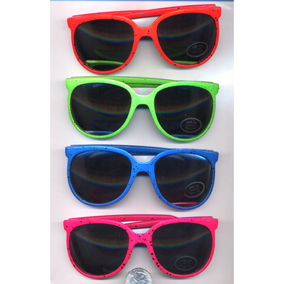 NEON/BRIGHT COLORS, 80' FASHION, MIRROR LENS WITH SPLATTER