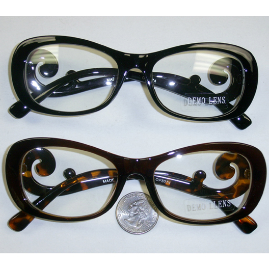 CLEAR LENS GLASSES WITH CURLY ARMS