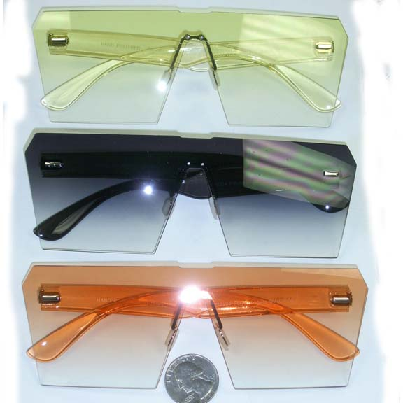 ASSORTED COLOR 1 PIECE FRONT FRAMES WITH SAME COLOR ARMS