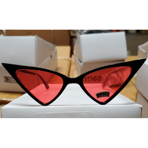 ASSORTED COLOR LENSES SHARP LOOKING FUNKY SUNGLASSES