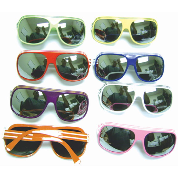 AVIATOR STYLE BRIGHT COLOR FRAMES WITH MIRROR LENS