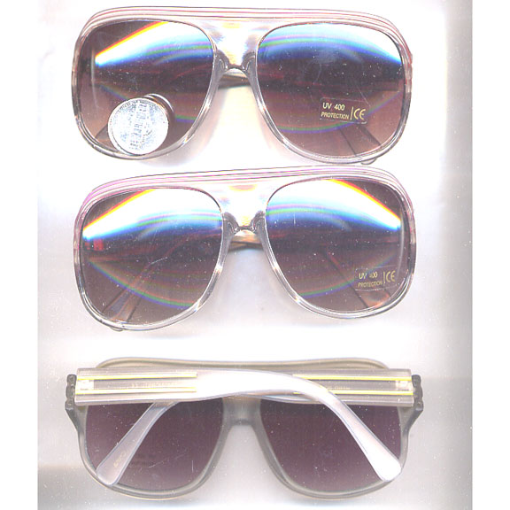 AVIATOR PLASTIC 2 LINE CLEAR & FROSTED FRAME SUNGLASS