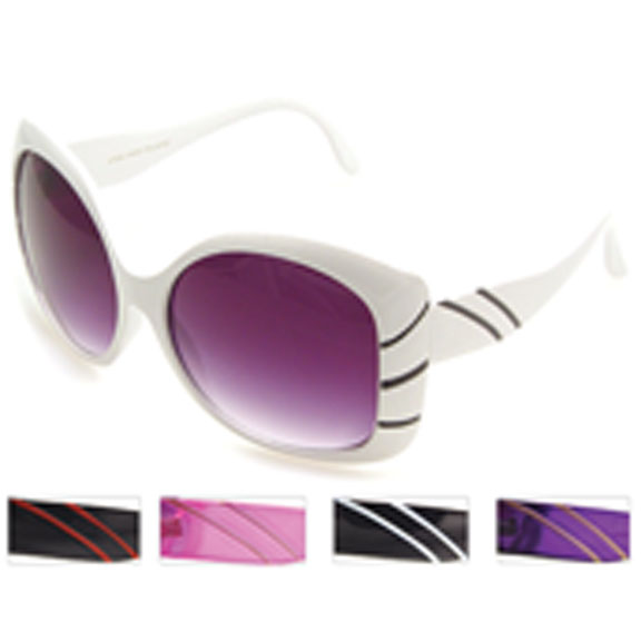 JACKIE O TYPE RETRO/MOD  LINE SUNGLASSES
