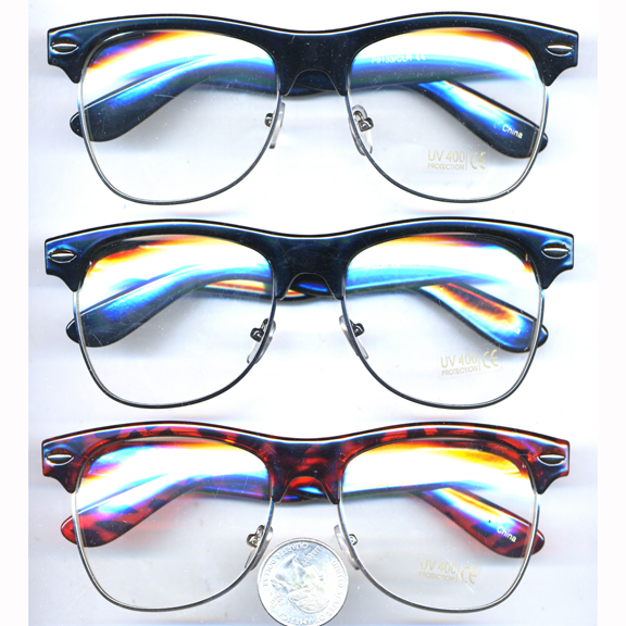 CLEAR LENS SOHO XL STYLE GLASSES RETRO SHARP NERD LOOK