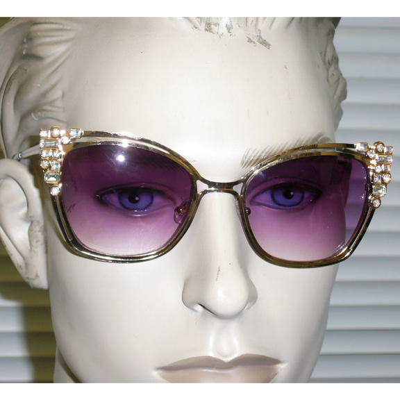 CAT METAL FRAMES WITH FUNKY PATTERN GENS AND COOL LENSES