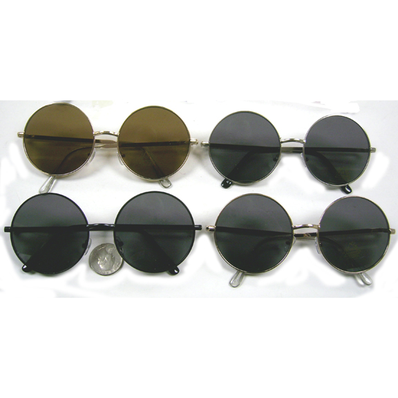 LARGE ROUND METAL FLAT FRAMES IN GOLD, BLACK AND SILVER FRAMES