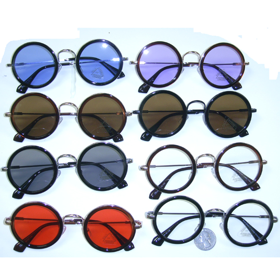 COLOR LENSES ROUND FRAMES, FUNKY SUNGLASSES