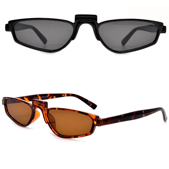 SMALL FUNKY FRAMES DARK LENS SUNGLASSES