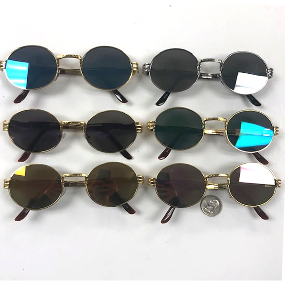 OVAL SHAPE, REVO LENS METAL FRAMES, COOL ARMS SUNGLASSES