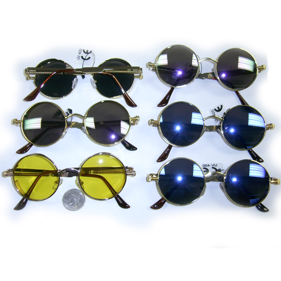 STEAMPUNK LOOK ROUND FRAMES WITH ASSORTED LENSES