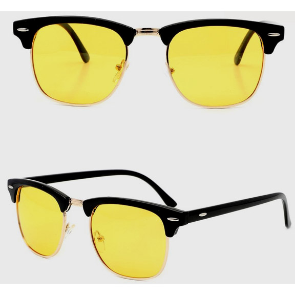 SOHO STYLE FRAMES ALL YELLOW LENS SUNGLASSES