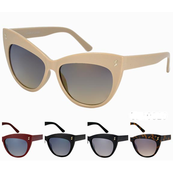 CAT SHAPE LARGE RETRO SUNGLASSES, COOL COLORS