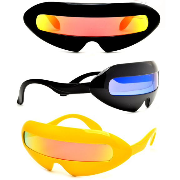 ROBOT/SPACE LOOKING SUNGLASSES REVO LENS