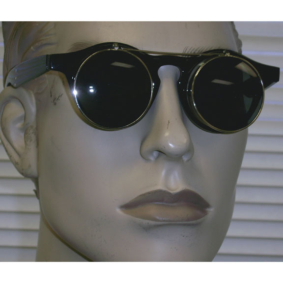 ROUND FLIP UP SUNGLASSES, STEAMPUNK, RETRO, FUNKY LOOK,