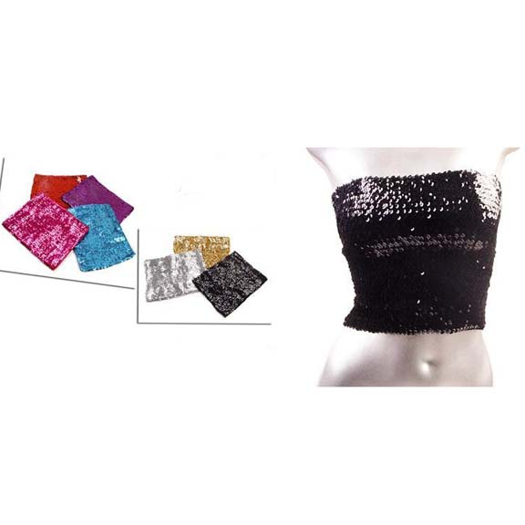 SEQUIN TUBE TOPS/MINI SKIRT SILVER, GOLD, BLACK, ETC..