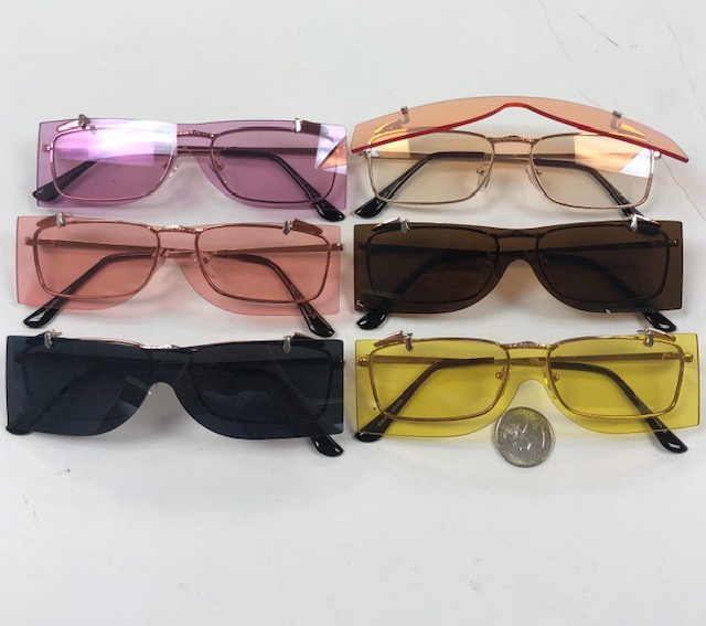 FLIP -UP METAL FRAMES WITH CLEAR LENS