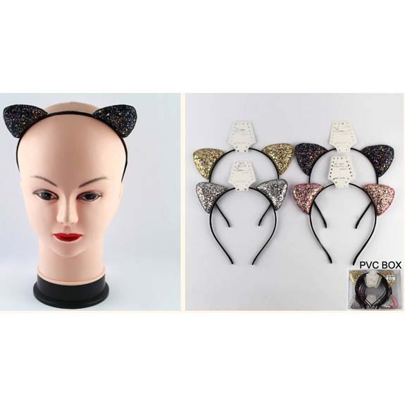 GLITTER CAT EARS HEADBANDS