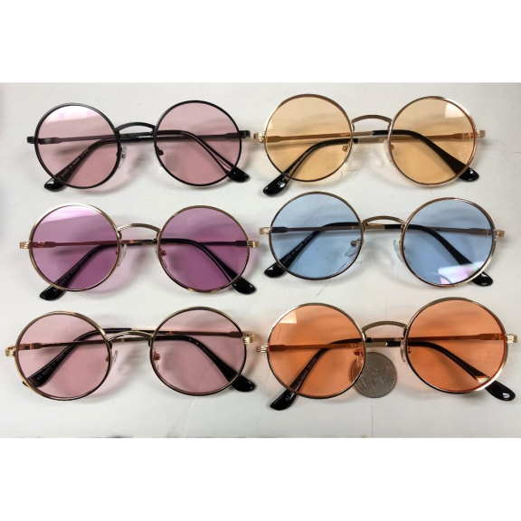 LARGE LENNON COLOR LENS SUNGLASSES, VERY GOOD QUALITY