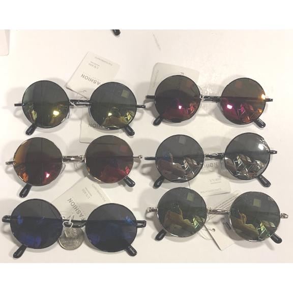 8 SIDED FRAMES ASSORTED COLOR LENS SUNGLASSES
