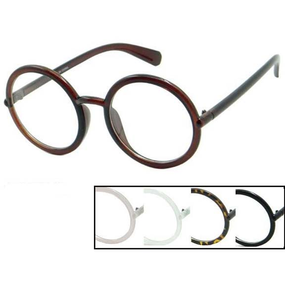 CLEAR LENS ROUND FRAMES EXCELLENT SIZE GLASSES