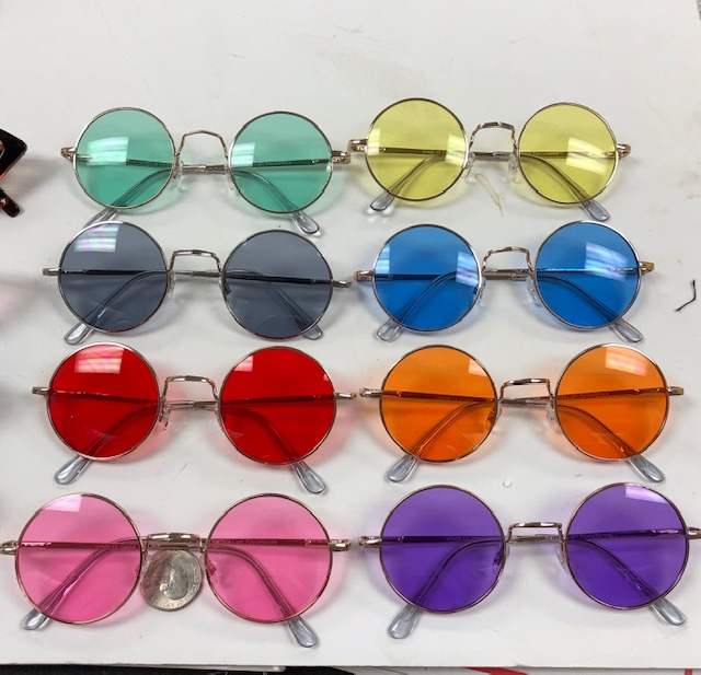 JOHN LENNO COLOR LENS, SPRING TEMPLE QUALITY SUNGLASSES
