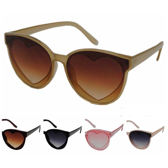 HEART SHAPE SUNGLASSES, MORE RETRO COOL COLORS