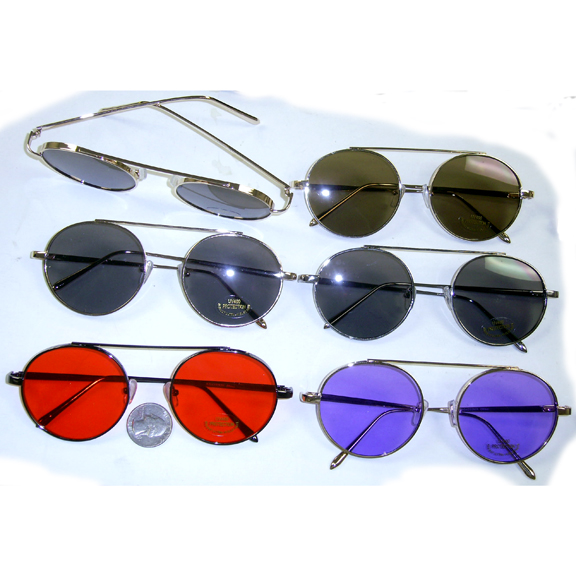 ROUNDISH SHAPE TOP BRIDGE, METAL FRAMES SUNGLASSES
