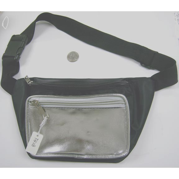 BLACK/GOLD OR SILVER FANNY PACK COMBO