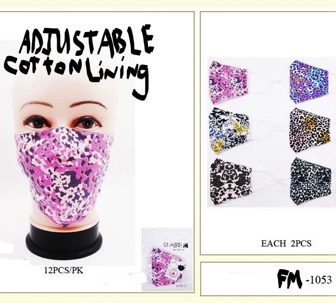 FACE MASKS, COTTON, ADJUSTABLE