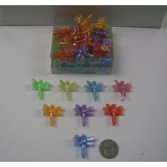 DRAGONFLY MINI HAIR CLIP, 4 DZ PER  DISPLAY BOX, ASSORTED NEON C