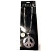PEACE SIGN NECKLACE SILVER BETTER QUALITY